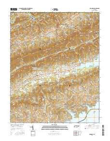 Avondale Tennessee Current topographic map, 1:24000 scale, 7.5 X 7.5 Minute, Year 2016