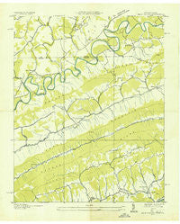 Back Valley Tennessee Historical topographic map, 1:24000 scale, 7.5 X 7.5 Minute, Year 1935