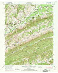 Back Valley Tennessee Historical topographic map, 1:24000 scale, 7.5 X 7.5 Minute, Year 1946
