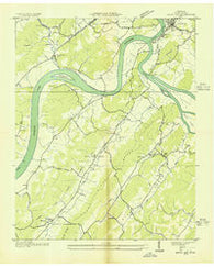 Bacon Gap Tennessee Historical topographic map, 1:24000 scale, 7.5 X 7.5 Minute, Year 1936