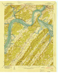 Bacon Gap Tennessee Historical topographic map, 1:24000 scale, 7.5 X 7.5 Minute, Year 1940