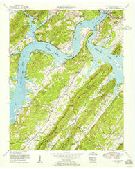 Bacon Gap Tennessee Historical topographic map, 1:24000 scale, 7.5 X 7.5 Minute, Year 1952