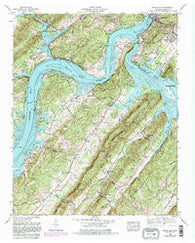 Bacon Gap Tennessee Historical topographic map, 1:24000 scale, 7.5 X 7.5 Minute, Year 1968