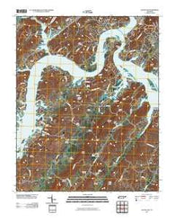 Bacon Gap Tennessee Historical topographic map, 1:24000 scale, 7.5 X 7.5 Minute, Year 2010
