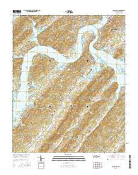 Bacon Gap Tennessee Current topographic map, 1:24000 scale, 7.5 X 7.5 Minute, Year 2016