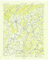 Baileyton Tennessee Historical topographic map, 1:24000 scale, 7.5 X 7.5 Minute, Year 1935