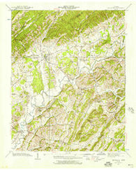 Baileyton Tennessee Historical topographic map, 1:24000 scale, 7.5 X 7.5 Minute, Year 1939