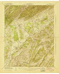 Baileyton Tennessee Historical topographic map, 1:24000 scale, 7.5 X 7.5 Minute, Year 1940