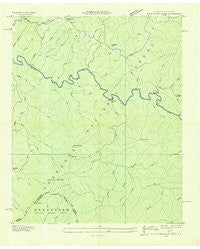 Bald River Falls Tennessee Historical topographic map, 1:24000 scale, 7.5 X 7.5 Minute, Year 1933