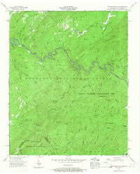 Bald River Falls Tennessee Historical topographic map, 1:24000 scale, 7.5 X 7.5 Minute, Year 1957
