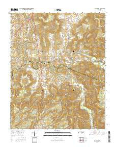 Bald Knob Tennessee Current topographic map, 1:24000 scale, 7.5 X 7.5 Minute, Year 2016