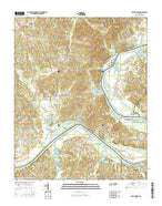 Bath Springs Tennessee Current topographic map, 1:24000 scale, 7.5 X 7.5 Minute, Year 2016 from Tennessee Map Store