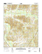 Beech Bluff Tennessee Current topographic map, 1:24000 scale, 7.5 X 7.5 Minute, Year 2016 from Tennessee Map Store