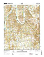 Bellwood Tennessee Current topographic map, 1:24000 scale, 7.5 X 7.5 Minute, Year 2016 from Tennessee Map Store