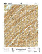 Big Ridge Park Tennessee Current topographic map, 1:24000 scale, 7.5 X 7.5 Minute, Year 2016 from Tennessee Map Store
