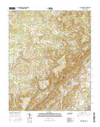 Billingsley Gap Tennessee Current topographic map, 1:24000 scale, 7.5 X 7.5 Minute, Year 2016 from Tennessee Map Store
