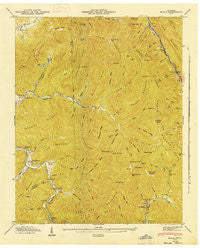 Block Tennessee Historical topographic map, 1:24000 scale, 7.5 X 7.5 Minute, Year 1946