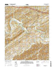 Boyds Creek Tennessee Current topographic map, 1:24000 scale, 7.5 X 7.5 Minute, Year 2016