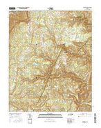 Brayton Tennessee Current topographic map, 1:24000 scale, 7.5 X 7.5 Minute, Year 2016 from Tennessee Map Store