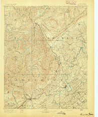 Briceville Tennessee Historical topographic map, 1:125000 scale, 30 X 30 Minute, Year 1893