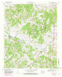 Brick Church Tennessee Historical topographic map, 1:24000 scale, 7.5 X 7.5 Minute, Year 1946