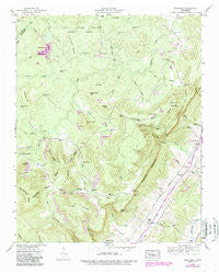 Brockdell Tennessee Historical topographic map, 1:24000 scale, 7.5 X 7.5 Minute, Year 1946