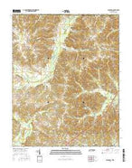 Buchanan Tennessee Current topographic map, 1:24000 scale, 7.5 X 7.5 Minute, Year 2016 from Tennessee Map Store