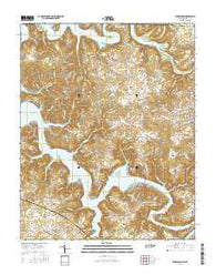 Byrdstown Tennessee Current topographic map, 1:24000 scale, 7.5 X 7.5 Minute, Year 2016