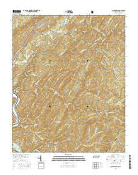Calderwood Tennessee Current topographic map, 1:24000 scale, 7.5 X 7.5 Minute, Year 2016