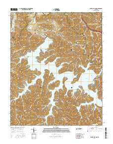 Center Hill Dam Tennessee Current topographic map, 1:24000 scale, 7.5 X 7.5 Minute, Year 2016