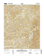 Charlotte Tennessee Current topographic map, 1:24000 scale, 7.5 X 7.5 Minute, Year 2016 from Tennessee Map Store