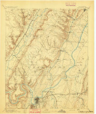 Chattanooga Tennessee Historical topographic map, 1:125000 scale, 30 X 30 Minute, Year 1893