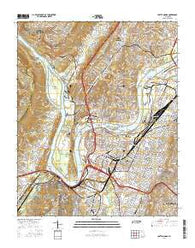 Chattanooga Tennessee Current topographic map, 1:24000 scale, 7.5 X 7.5 Minute, Year 2016