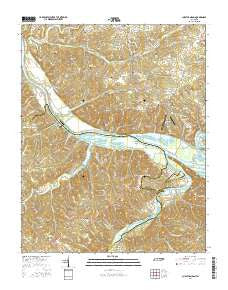 Cheatham Dam Tennessee Current topographic map, 1:24000 scale, 7.5 X 7.5 Minute, Year 2016