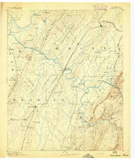 Cleveland Tennessee Historical topographic map, 1:125000 scale, 30 X 30 Minute, Year 1892