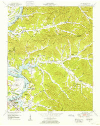 Clifton Tennessee Historical topographic map, 1:24000 scale, 7.5 X 7.5 Minute, Year 1949
