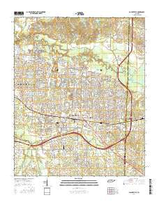 Collierville Tennessee Current topographic map, 1:24000 scale, 7.5 X 7.5 Minute, Year 2016