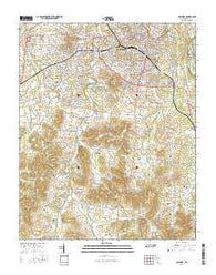 Columbia Tennessee Current topographic map, 1:24000 scale, 7.5 X 7.5 Minute, Year 2016