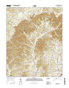 Cottontown Tennessee Current topographic map, 1:24000 scale, 7.5 X 7.5 Minute, Year 2016