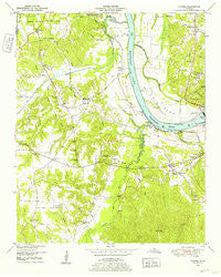 Counce Tennessee Historical topographic map, 1:24000 scale, 7.5 X 7.5 Minute, Year 1949