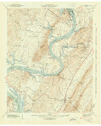 Decatur Tennessee Historical topographic map, 1:24000 scale, 7.5 X 7.5 Minute, Year 1943