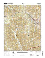 Dickson Tennessee Current topographic map, 1:24000 scale, 7.5 X 7.5 Minute, Year 2016 from Tennessee Map Store