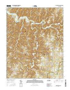 Dodson Branch Tennessee Current topographic map, 1:24000 scale, 7.5 X 7.5 Minute, Year 2016