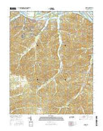 Dover Tennessee Current topographic map, 1:24000 scale, 7.5 X 7.5 Minute, Year 2016 from Tennessee Map Store
