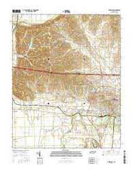 Dyersburg Tennessee Current topographic map, 1:24000 scale, 7.5 X 7.5 Minute, Year 2016