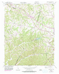 Forest Grove Tennessee Historical topographic map, 1:24000 scale, 7.5 X 7.5 Minute, Year 1955