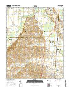 Fowlkes Tennessee Current topographic map, 1:24000 scale, 7.5 X 7.5 Minute, Year 2016