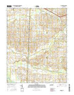 Gardner Tennessee Current topographic map, 1:24000 scale, 7.5 X 7.5 Minute, Year 2016 from Tennessee Map Store