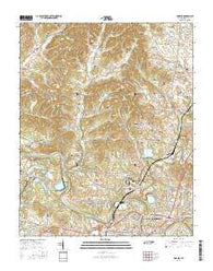 Godwin Tennessee Current topographic map, 1:24000 scale, 7.5 X 7.5 Minute, Year 2016