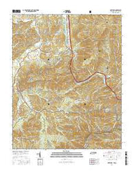 Hartford Tennessee Current topographic map, 1:24000 scale, 7.5 X 7.5 Minute, Year 2016